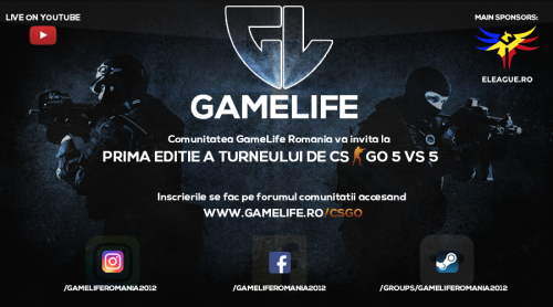 Turneu 5 vs 5 Organizat de Gamelife in colaborare cu eLeague.ro (main sponsor)