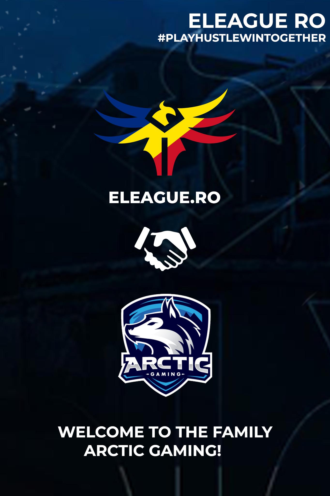Arctic Gaming intra sub umbrela eLeague.ro ca franciza